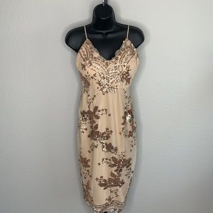 L'Atiste By Amy Sequin Nude Dress